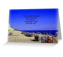 Colourful Deck Chairs in the Wind Greeting Card