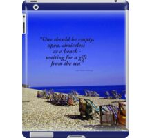 Colourful Deck Chairs in the Wind iPad Case/Skin