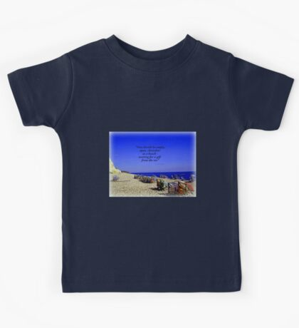 Colourful Deck Chairs in the Wind Kids Tee