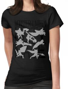 Monster Hunter 4 Ultimate - Crew 2 (black text) Womens Fitted T-Shirt