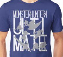 Monster Hunter 4 Ultimate - Crew (white text) Unisex T-Shirt