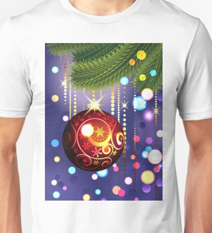 Red Ball and Branches Unisex T-Shirt