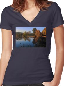 Hillsborough Lake Women's Fitted V-Neck T-Shirt