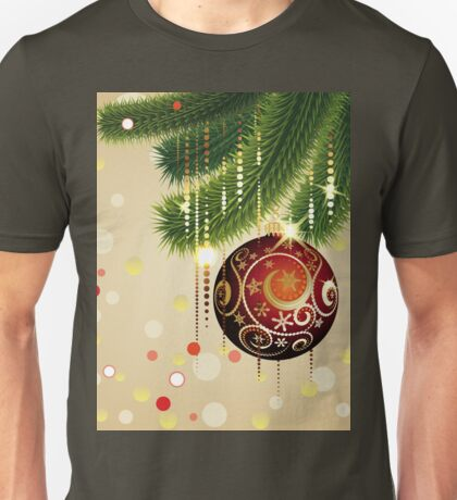 Red Ball and Branches 3 Unisex T-Shirt