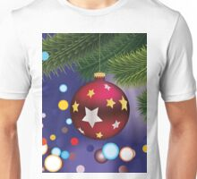Red Christmas ball on branch Unisex T-Shirt