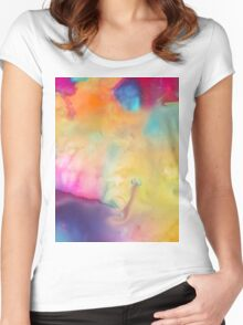 Colored Abstraction Women's Fitted Scoop T-Shirt