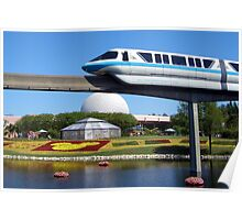 Epcot Monorail Poster