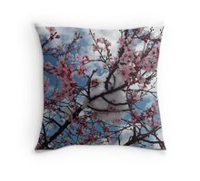 Snow Blooms Throw Pillow