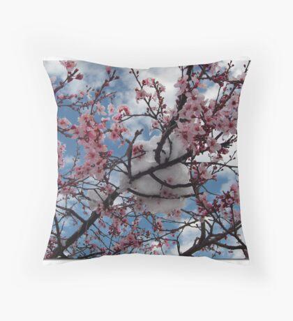Snow Blooms Throw Pillow