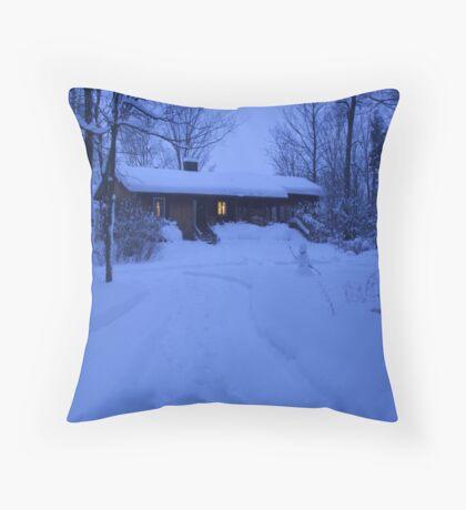 Snow night Throw Pillow