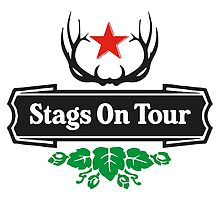 Stags On Tour Tshirt by springwoodbooks