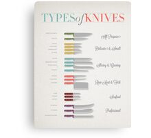 Types of Knives Infographic Canvas Print