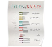 Types of Knives Infographic Poster