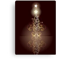 Card with Decorative Christmas Tree Canvas Print