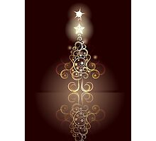 Card with Decorative Christmas Tree Photographic Print
