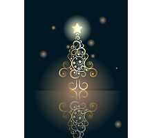 Card with Decorative Christmas Tree 2 Photographic Print