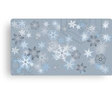 Snowflakes background Canvas Print