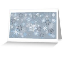 Snowflakes background Greeting Card