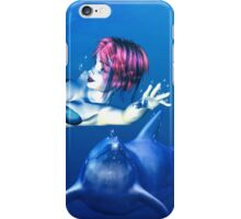 Mermaid with a dolphin iPhone Case/Skin