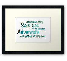 Winnie The Pooh Quote  Framed Print