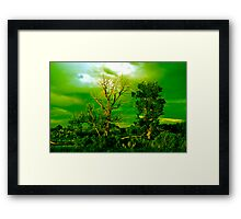 Haunted Green Framed Print
