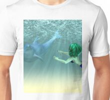 Mermaid with a dolphin 3 Unisex T-Shirt
