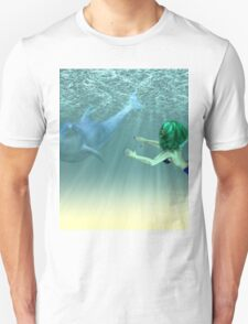Mermaid with a dolphin 3 T-Shirt