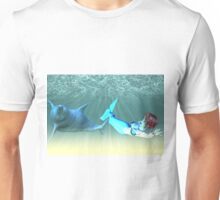 Mermaid with a dolphin 4 Unisex T-Shirt