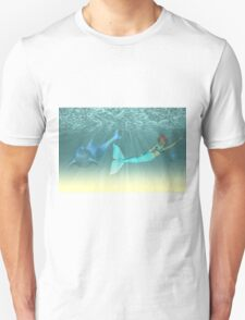 Mermaid with a dolphin 5 T-Shirt