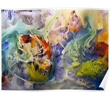 Heart Watercolor Abstract Painting Poster