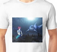 Mermaid with a dolphin 7 Unisex T-Shirt