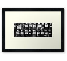 Cough Framed Print