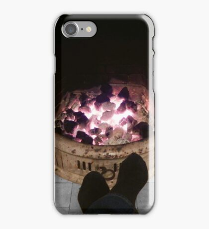 Toasting tootsies iPhone Case/Skin