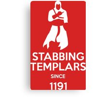 Stabbing Templars Since 1191, Assassin's Creed Canvas Print
