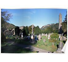 Glendalough cemetery view Poster
