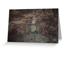 Army person - Australian War Memorial (Canberra) Greeting Card