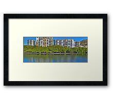 Apartments on the creek,HDR Framed Print