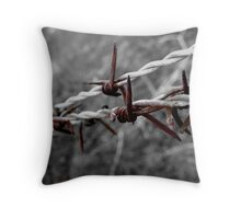 Blood-Red-Barb Throw Pillow