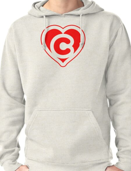 Heart C letter Pullover Hoodie