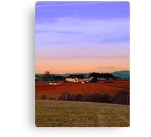 Countryside panorama in beautiful sunset colors | landscape photography Canvas Print