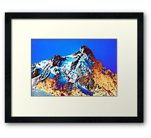 Psychedelic  Alps Framed Print