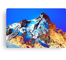 Psychedelic  Alps Canvas Print