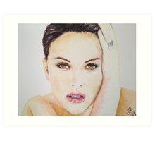 Natalie Portman, Pastels Portrait, by James Patrick Art Print
