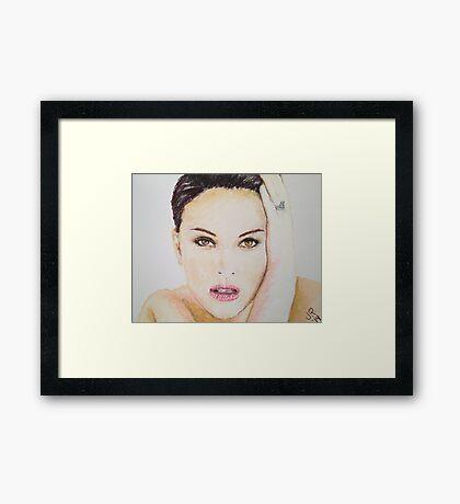 Natalie Portman, Pastels Portrait, by James Patrick Framed Print