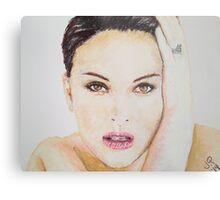Natalie Portman, Pastels Portrait, by James Patrick Metal Print