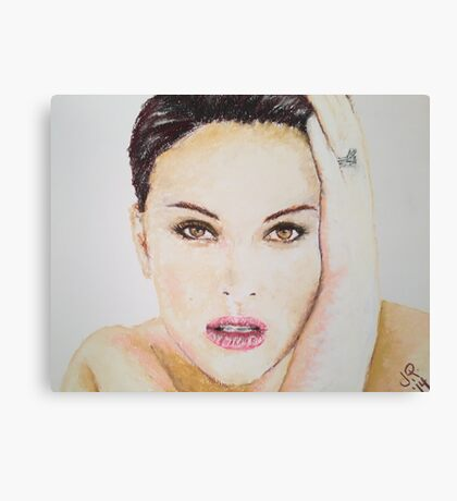 Natalie Portman, Pastels Portrait, by James Patrick Canvas Print