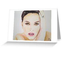 Natalie Portman, Pastels Portrait, by James Patrick Greeting Card