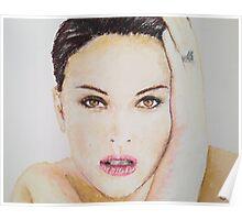 Natalie Portman, Pastels Portrait, by James Patrick Poster