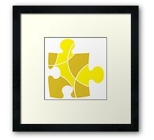 Yellow Puzzle Piece Framed Print