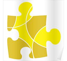 Yellow Puzzle Piece Poster